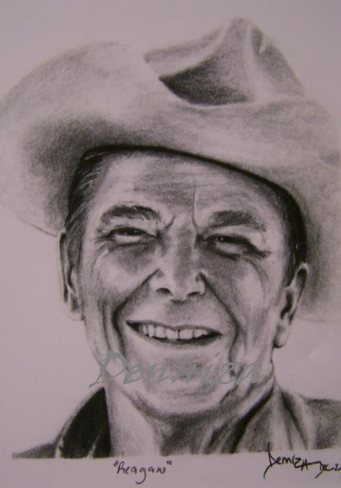 Ronald Reagan by deniart5